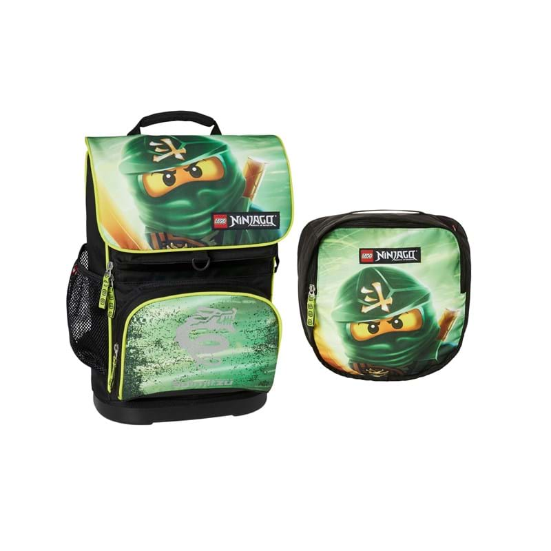 LEGO Skoletaske Ninjago Lloyd Garma Grøn mønster 1