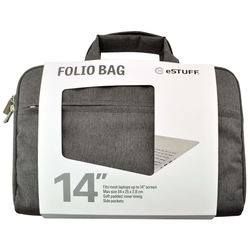 "Estuff  Folio Bag PC ""14"" Grå 1"