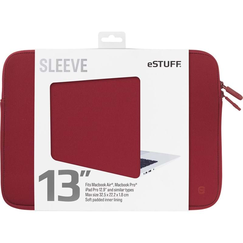 "Estuff Sleeve MacBook Pro/Air, ""13"" Rød 1"