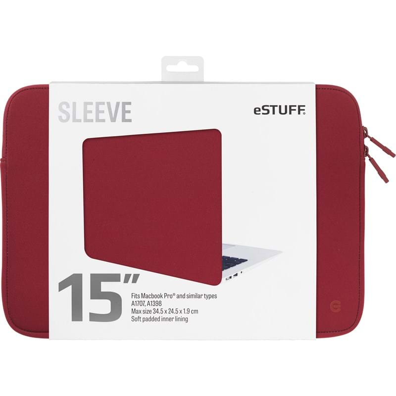 "Estuff Sleeve MacBook Pro""15"" Rød 1"
