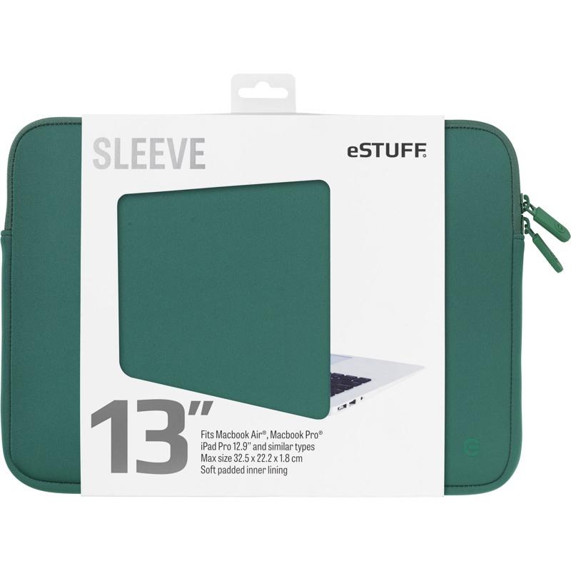 """Estuff  Sleeve MacBook Pro/Air,""""13"""" Grøn 1"""