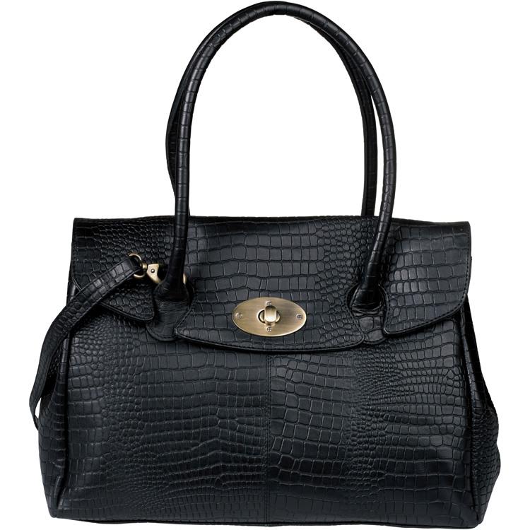 Aura Workbag croco Sort 1