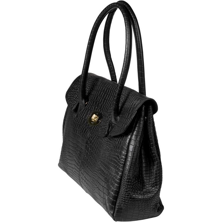 Aura Workbag croco Sort 2