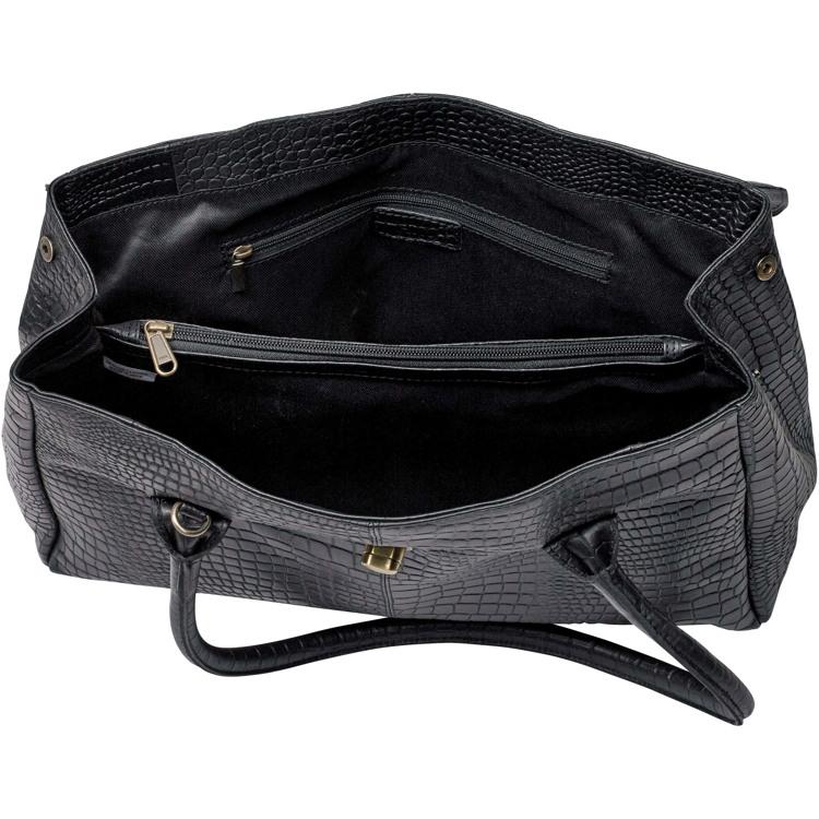 Aura Workbag croco Sort 3