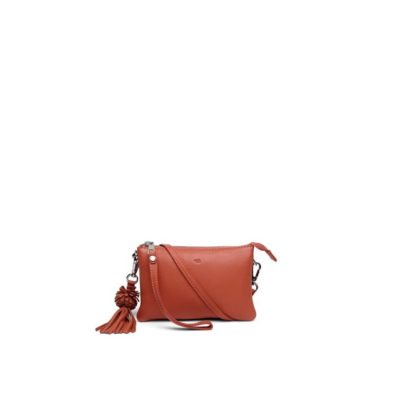 Combi clutch Lizette Ruby Orange 1