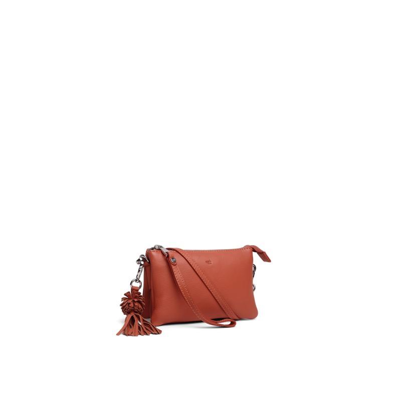 Combi clutch Lizette Ruby Orange 2