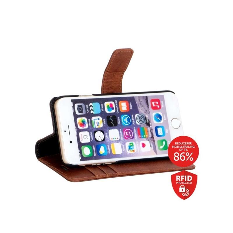 Iphone Flip-side iPhone 6,7,8 Brun/Sort 3