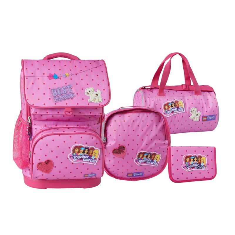 LEGO Skoletaskesæt Friends patchwor Pink mønstret 1