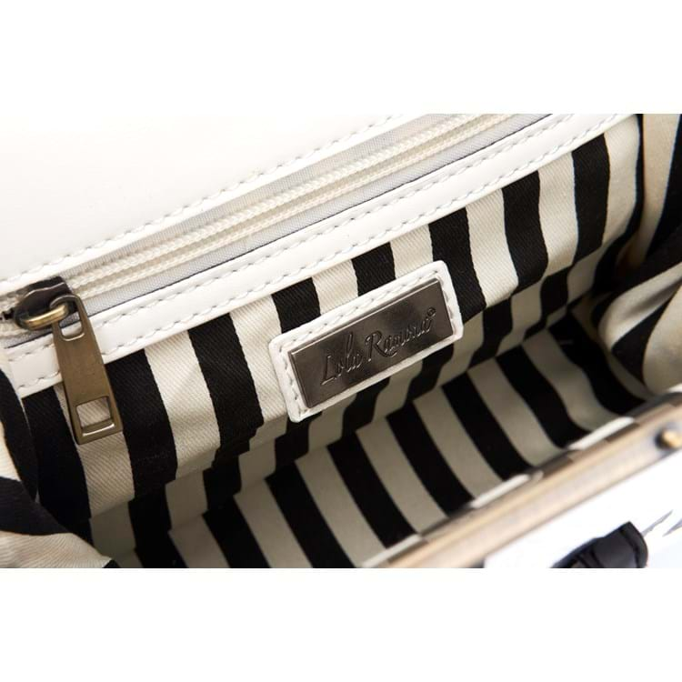 Håndtaske Creme/Sort 4