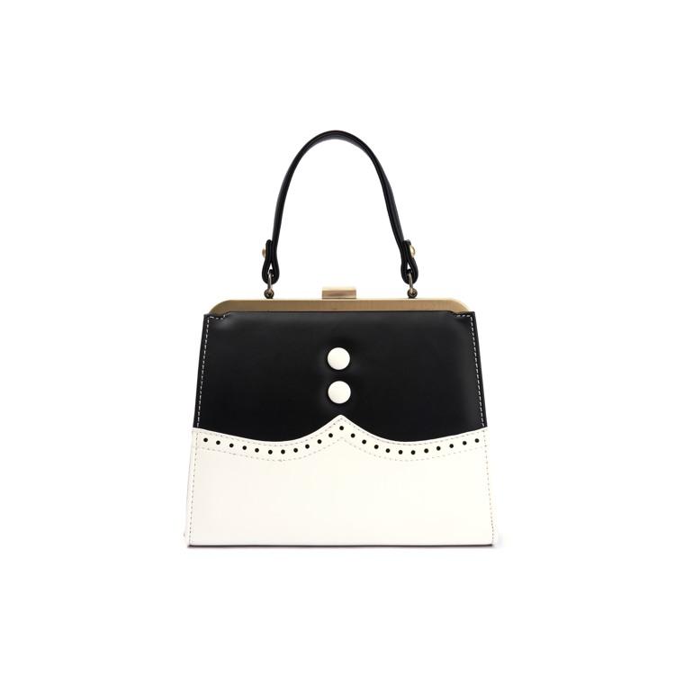 Håndtaske Creme/Sort 1