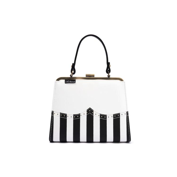 Håndtaske Creme/Sort 2