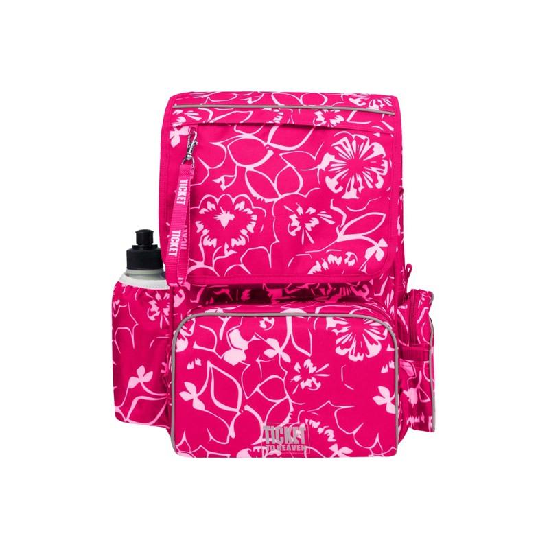 Rygsæk - Classic Girl Pink Blomst 1