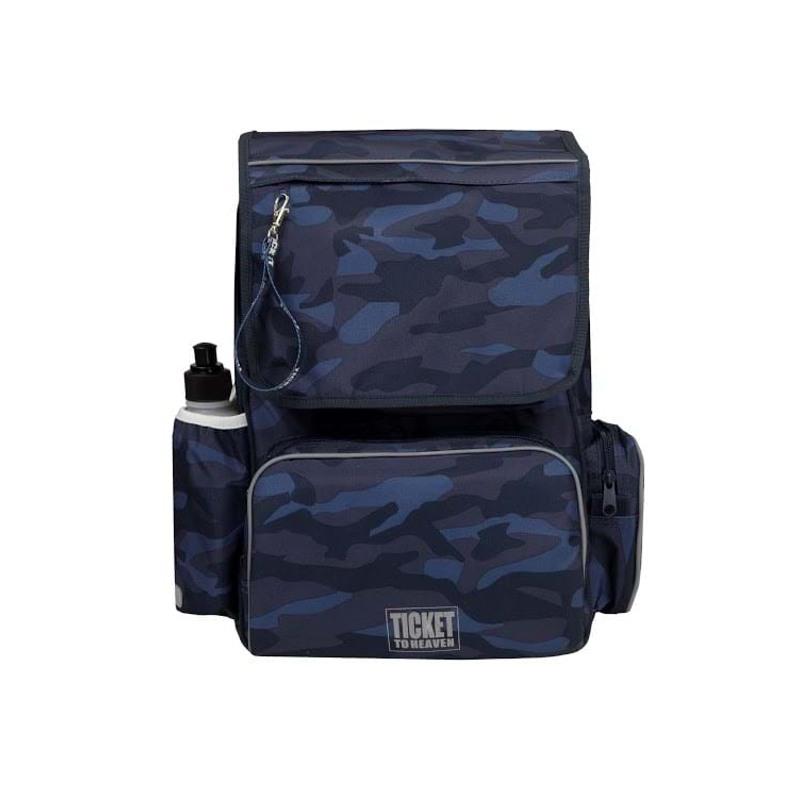 Skoletaske/rygsæk-Boy-Classic Blå camuflage 1