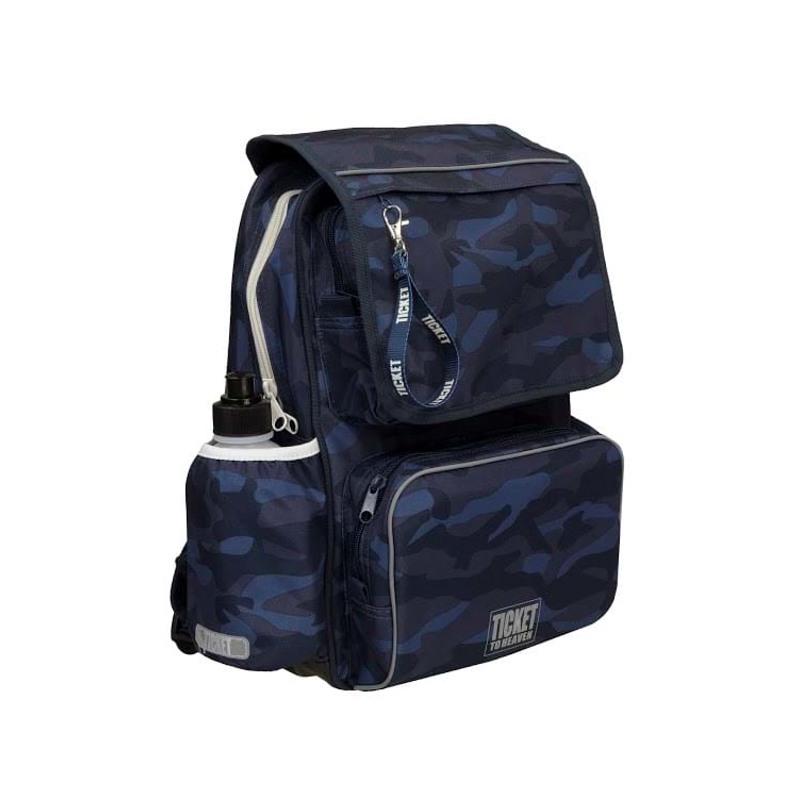 Skoletaske/rygsæk-Boy-Classic Blå camuflage 3