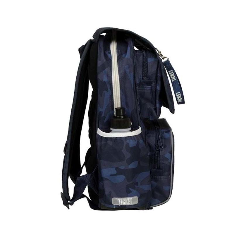 Skoletaske/rygsæk-Boy-Classic Blå camuflage 4