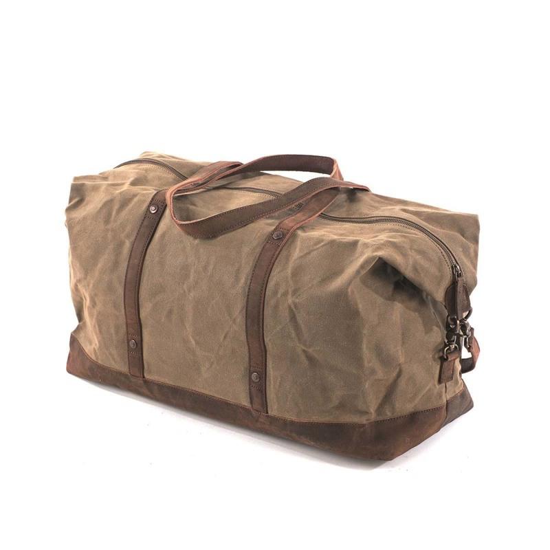 Duffel Bag Stockholm Beige/grøn 3