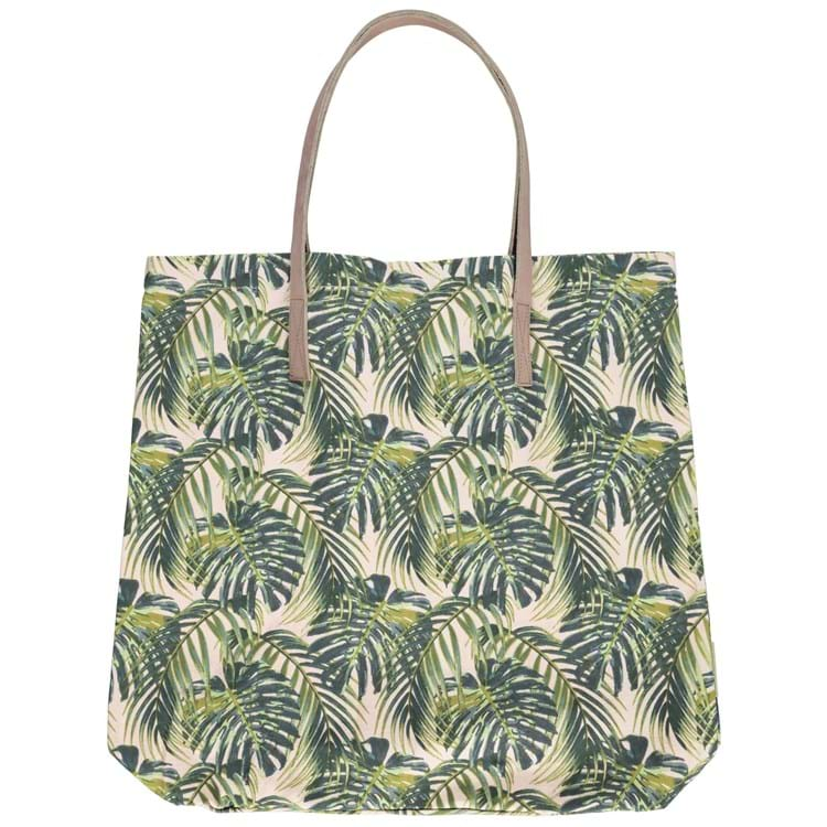 Bella Ballou Shopper, Palm Leaves Grøn mønster 1