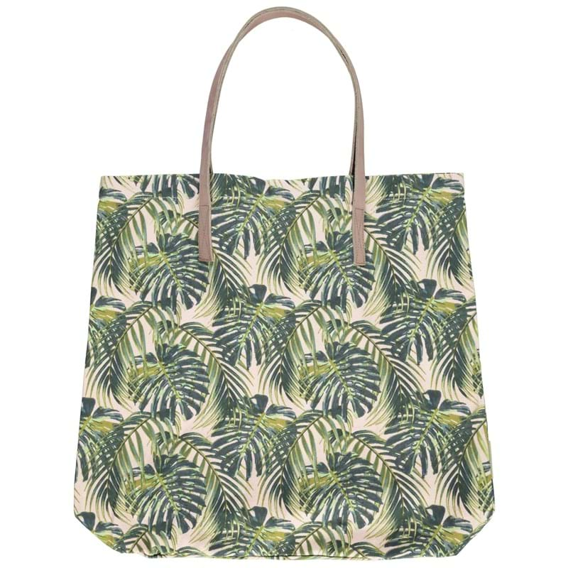 Bella Ballou Shopper, Palm Leaves Grøn mønster 1
