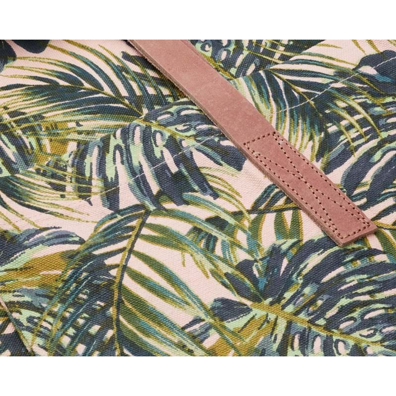 Bella Ballou Shopper, Palm Leaves Grøn mønster 2