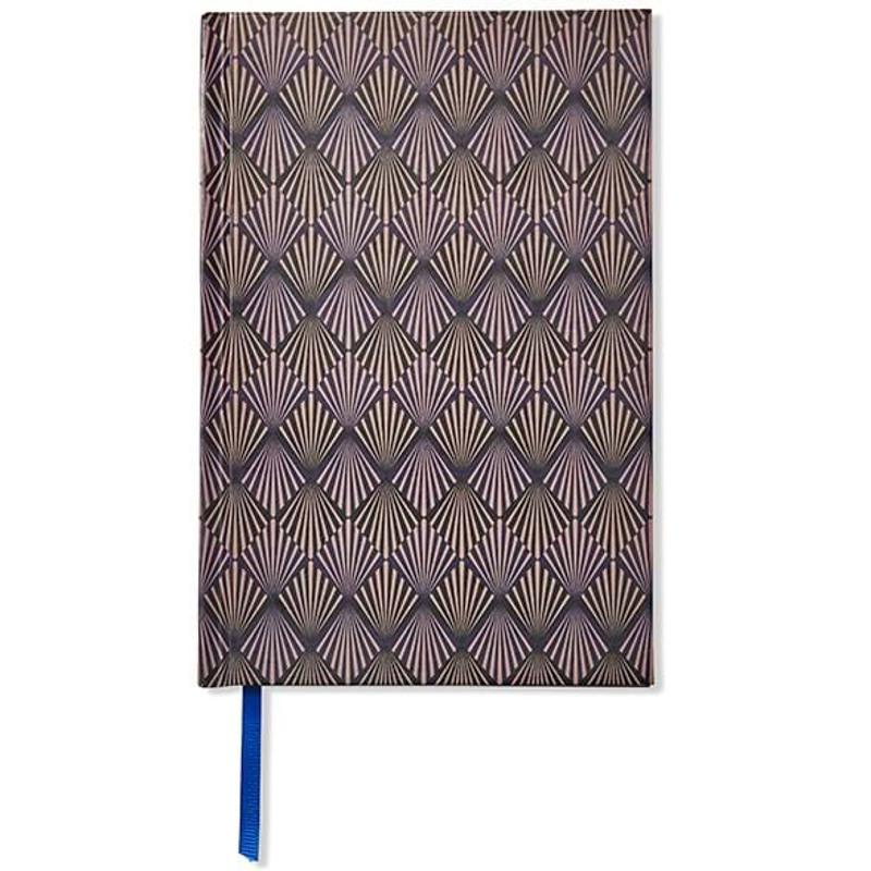 Adax Notebook, Art Deco A5  Blå/mønster 1
