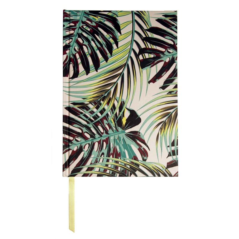 Bella Ballou Notebook, Palm Leaves A5 Grøn mønster 1