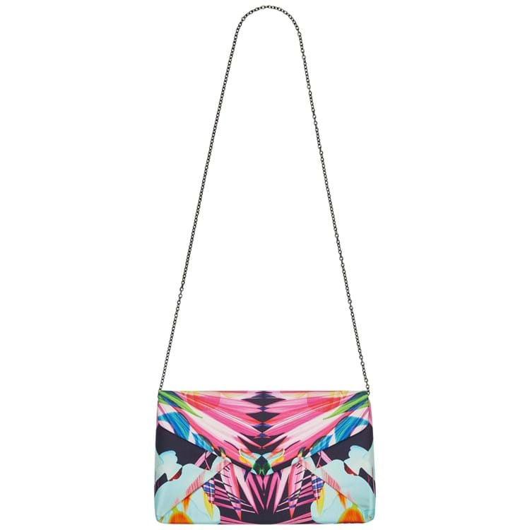 Bella Ballou Clutch, Jungle Silk Pink mønstret 1