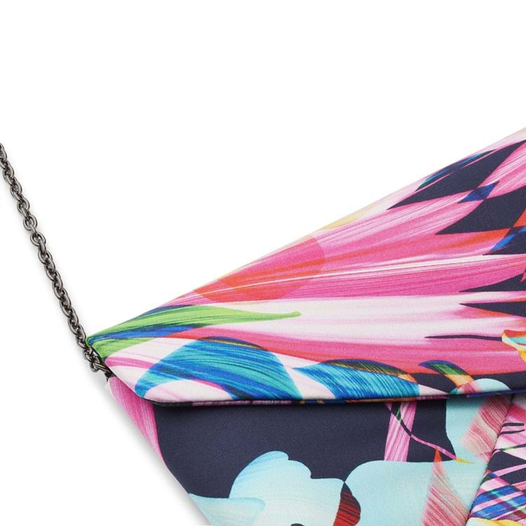 Bella Ballou Clutch, Jungle Silk Pink mønstret 3