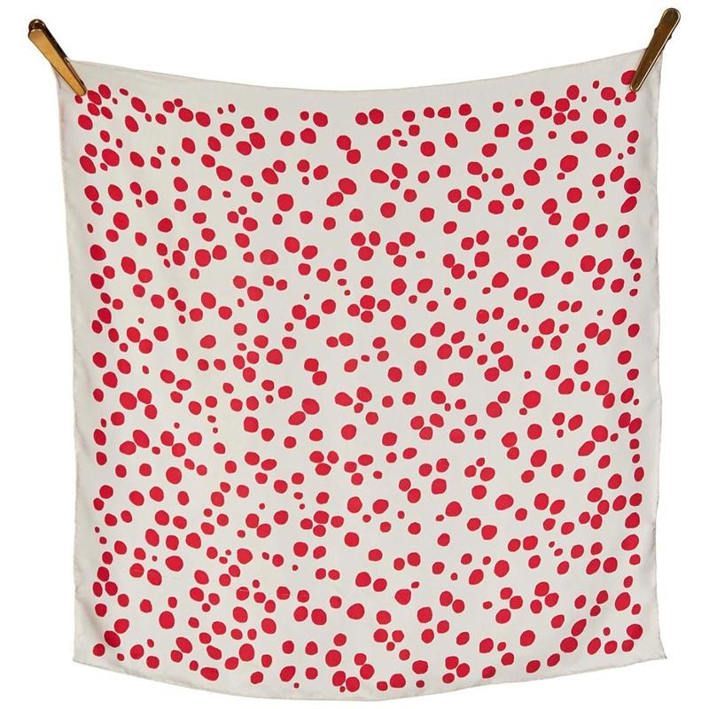 Bella Ballou Tørklæde Dots Rød/m prikker 2