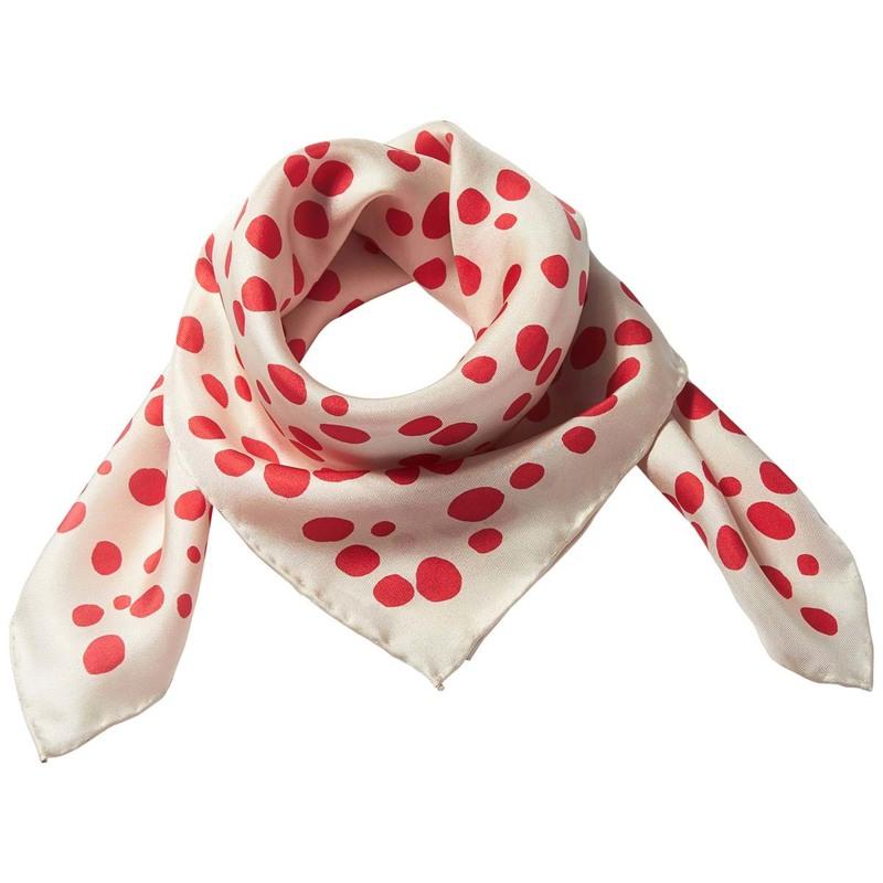 Bella Ballou Tørklæde Dots Rød/m prikker 1