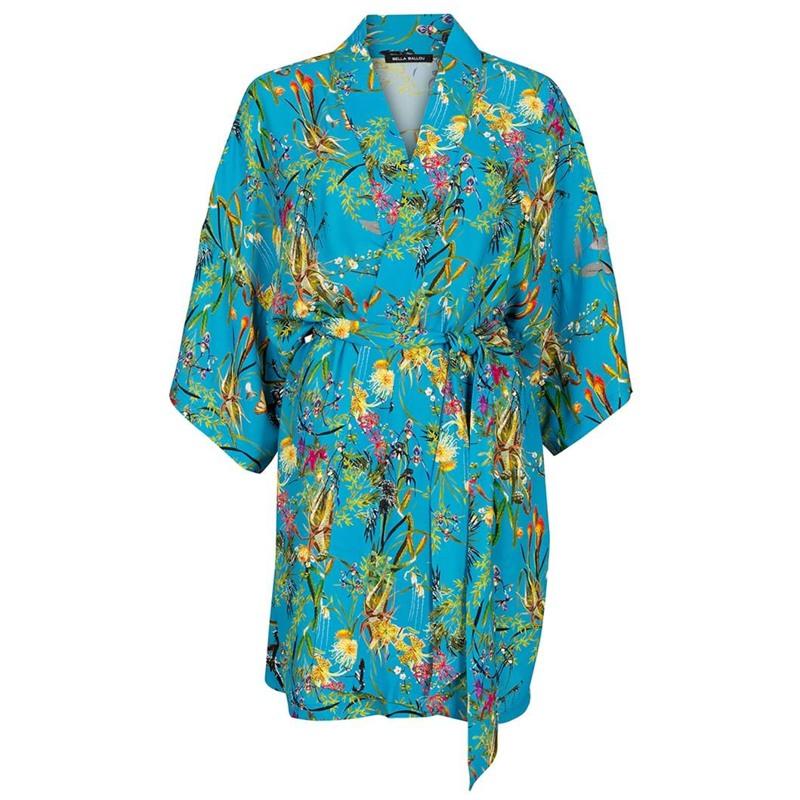 Bella Ballou Kimono Asian Garden One Size Blomster Print 1