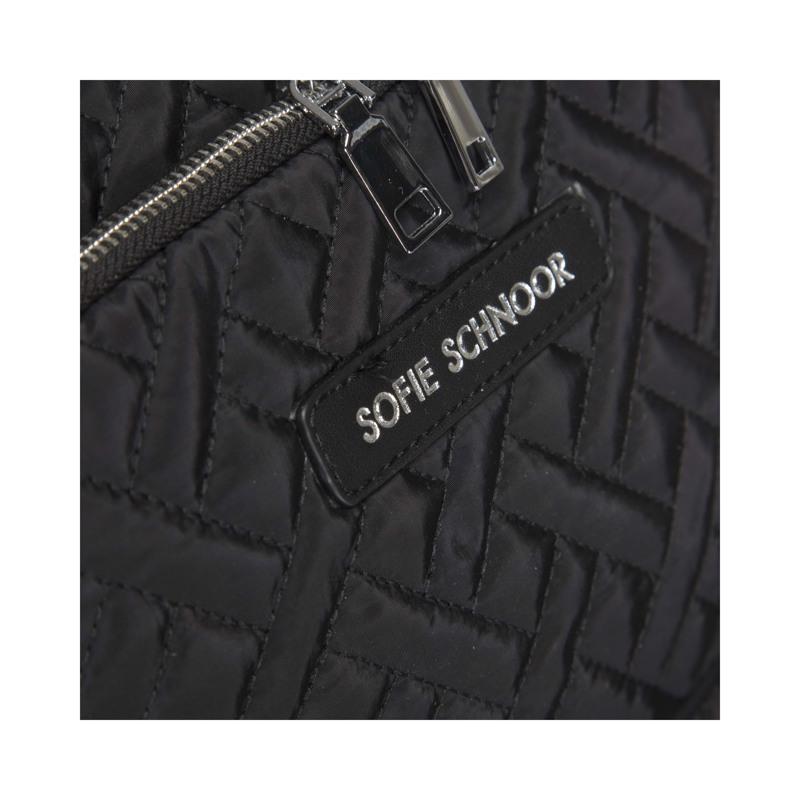 Sofie Schnoor Girls Skoletaske Quilt Sort 3