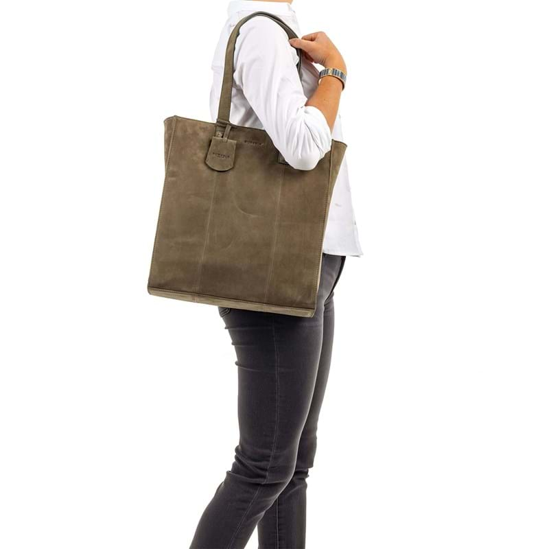 Burkely Shopper Braid Britt  Oliven 4