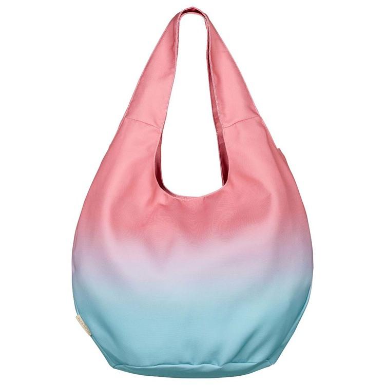 Bella Ballou Strandtaske Dip Dye Pink/Grøn 1