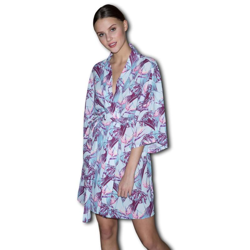 Bella Ballou Kimono Tropical Garden Mønstret 1