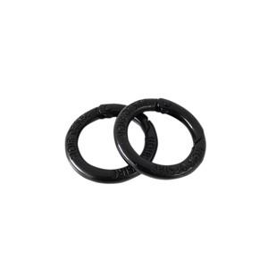 Noir Desire Taskekrog ND open rings 2 stk. Sort