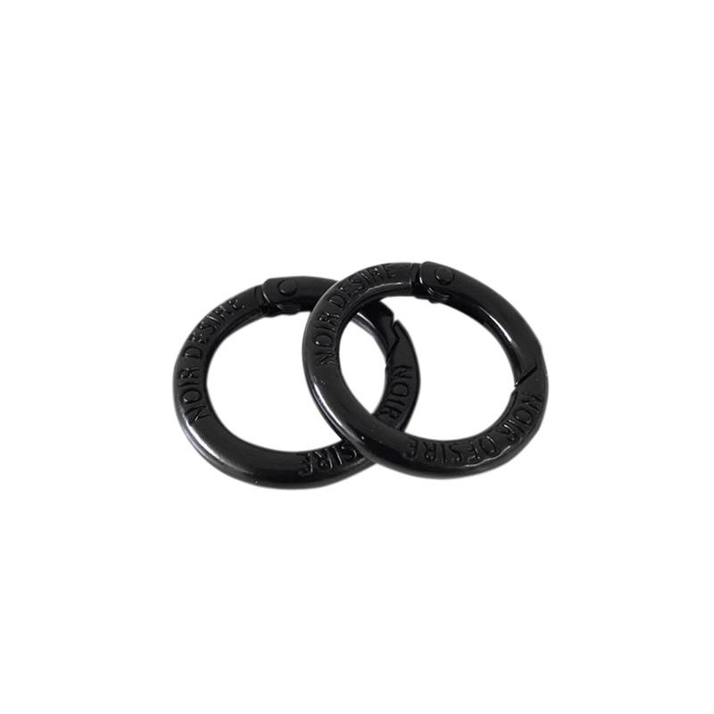 Noir Desire Taskekrog ND open rings 2 stk. Sort 1