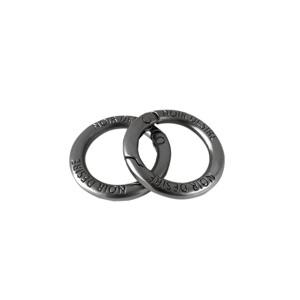 Noir Desire Taskekrog ND open rings 2 stk. Grå