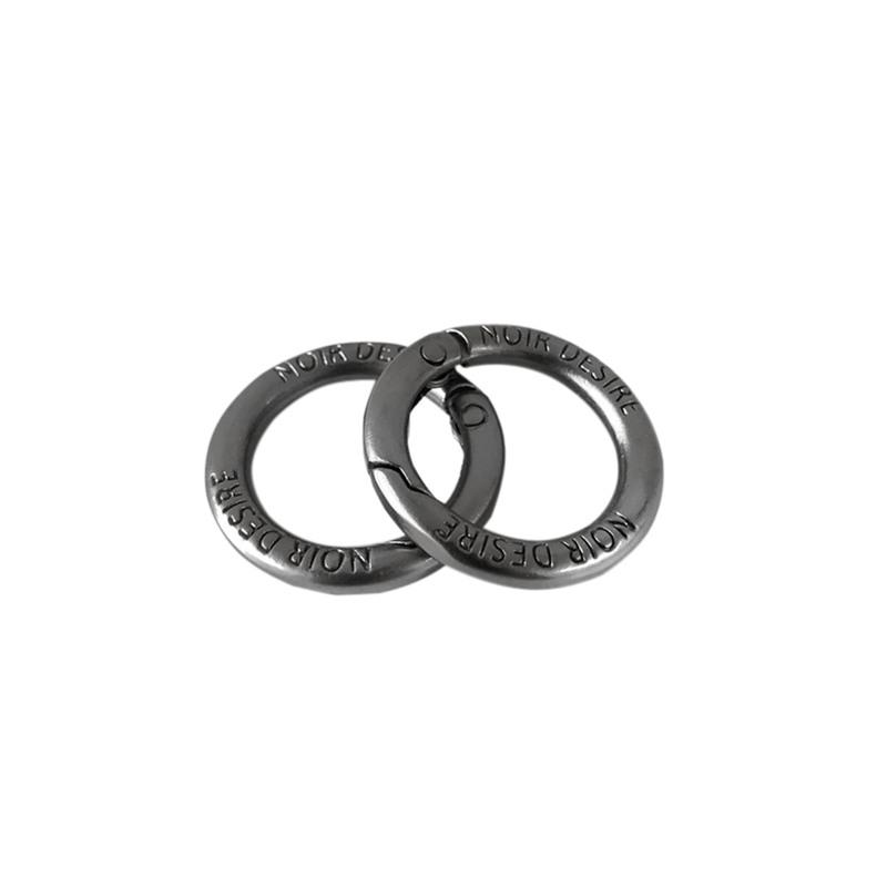 Noir Desire Taskekrog ND open rings 2 stk. Grå 1