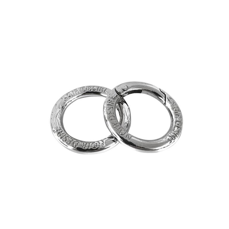 Noir Desire Taskekrog ND open rings 2 stk. Sølv 1
