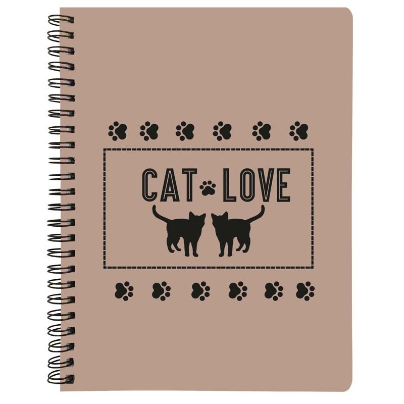 Note book A5 - Cat Love NEW Brun 1