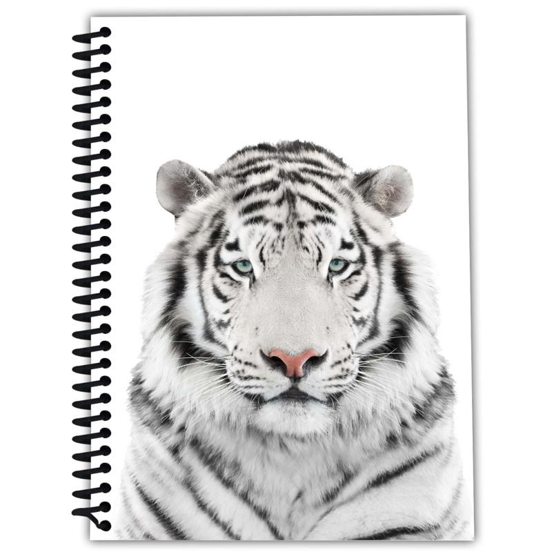 Note book A5 - White Tiger - N Sort/Hvid 1