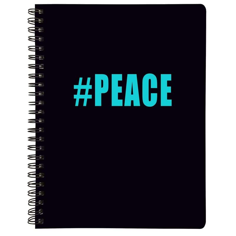 Note book A4 Peace NEW Sort/Turkis 1