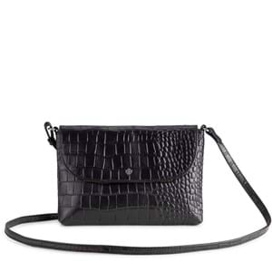 Aura Crossbody Aberdeen  Sort/Croco 1