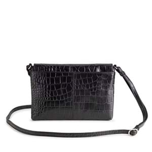 Aura Crossbody Aberdeen  Sort/Croco 4