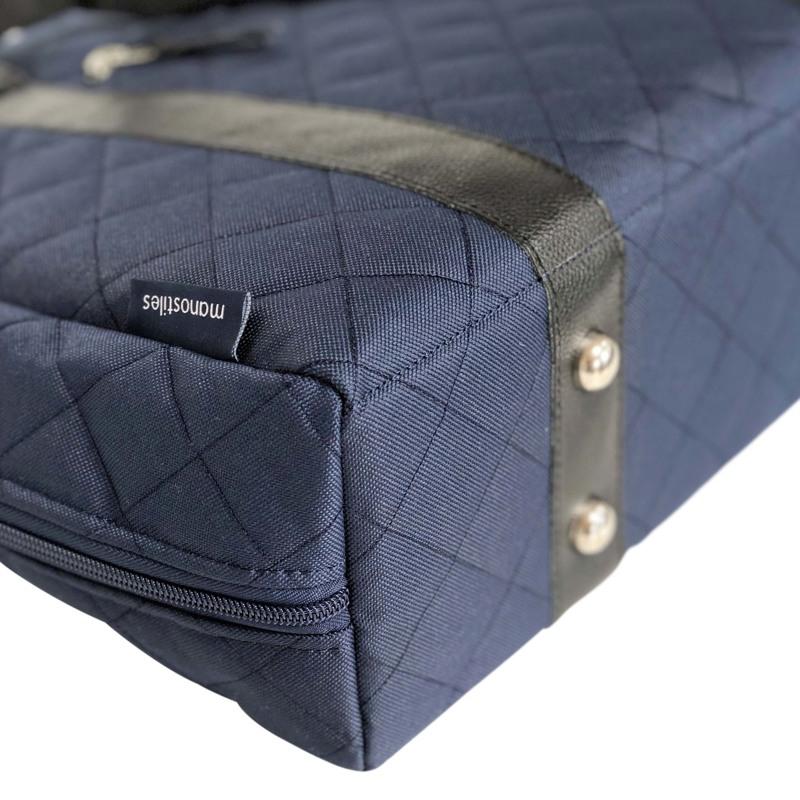 Manostiles Pusletaske Luksus med læder Blå 2