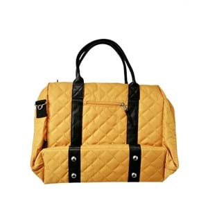 Manostiles Pusletaske Luksus med læder Karry gul