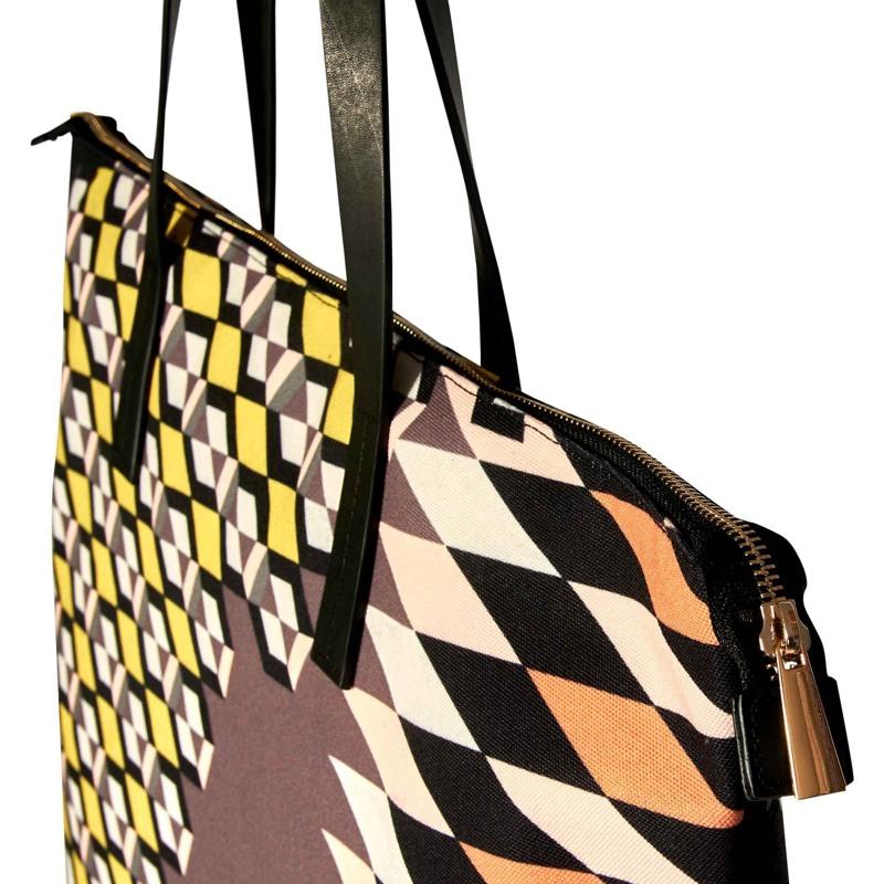 Bella Ballou Shopper Zig Zagged Sort/Cognac 2