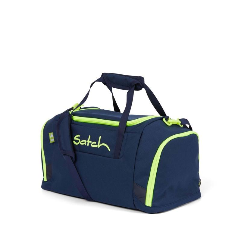 Satch Sportstaske Blå m/ gul 1
