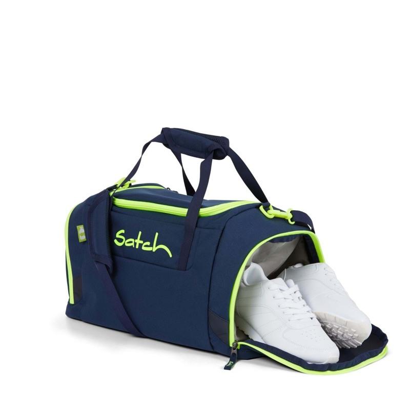 Satch Sportstaske Blå m/ gul 2
