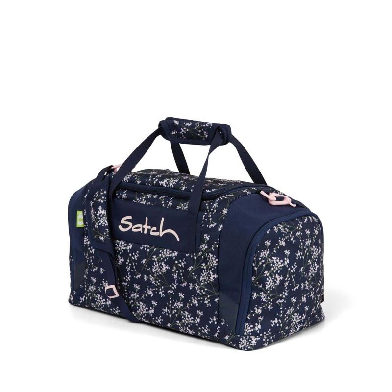 Satch Sportstaske Blå m/blomst 1